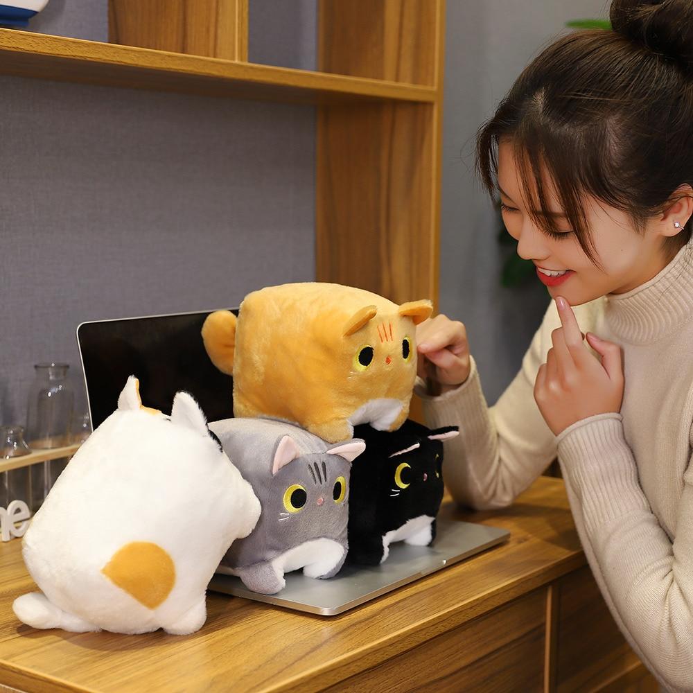 Japanese Anime Square  Cat Plush 4