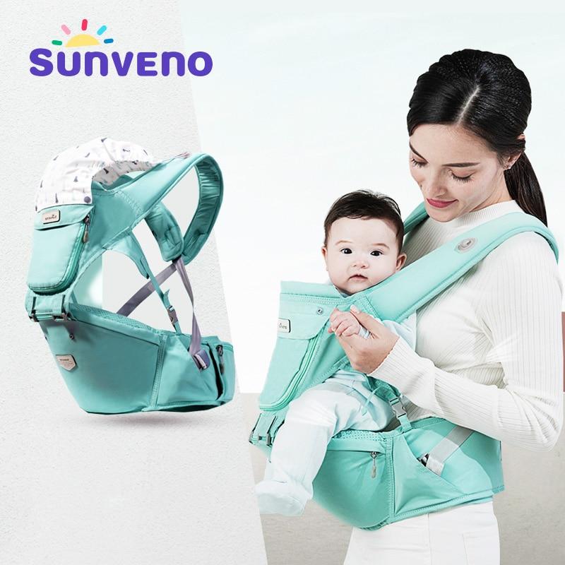 Sunveno Baby Carrier Front Facing Hipseat Kangaroo Ergonomic Baby Sling Carriers For Newborn Toddler Kids Loading Bear 20Kg
