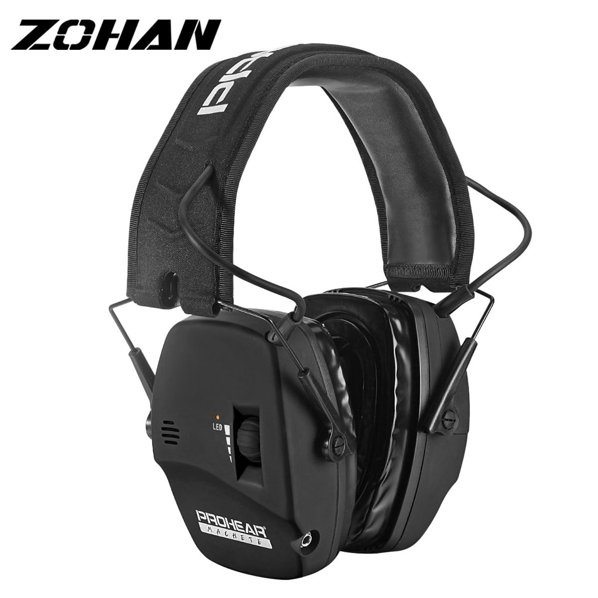 ZOHAN Digital Electronic Shooting cuffie antirumore caccia amplificazione del suono cuffie protezione dell'udito a basso profilo