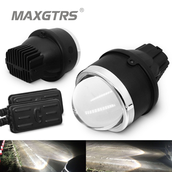 2x Universal Bi-LED Fog Light High/Low Beam Projector Lens Car Driving Lamps For Mitsubishi outlander For Toyota Camry Nissan free shipping car styling led hid rio led headlights head lamp case for toyota corolla 2014 bi xenon lens low beam
