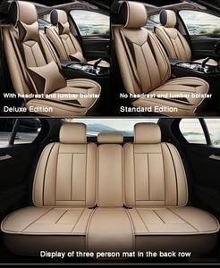 Image 4 - HLFNTF High quality linen Universal car seat cover for SEAT LEON Ibiza Cordoba Toledo Marbella Terra RONDA car accessories+free