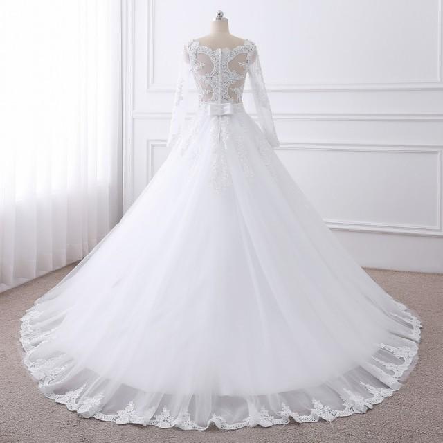 Lace O-Neck Wedding Dress 4
