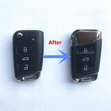 สำหรับ VW Golf MK7 Jetta Tiguan Polo สำหรับ Superb Octavia Yeti Fabia MQB รถเปลี่ยน Key Shell Key กรณี