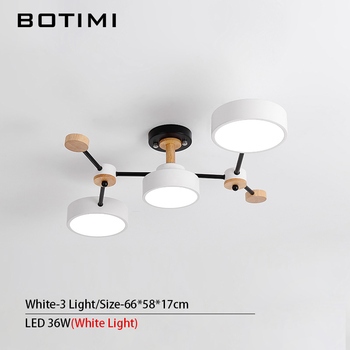 BOTIMI Modern Designer 220V LED Chandelier With Gray Metal Lampshade For Living Room White Iron Ceiling Mounted Home Lighting 15