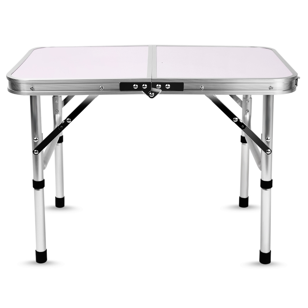 A Foldable Aluminum Table For Camping Dinning Light Weight Laptop Bed Desk Adjustable Height 24-41.5cm Heavy Loading