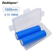 Новая батарея Doublepow 18650 3,7 V 1500mah 18650 литиевая аккумуляторная батарея для фонарика и т. д.
