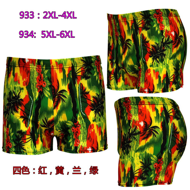New Style Swimming Trunks Printed Swimming Trunks Fashion Leveling Feet Swimming Trunks Large Size Swimming Trunks 933-934 Swimm