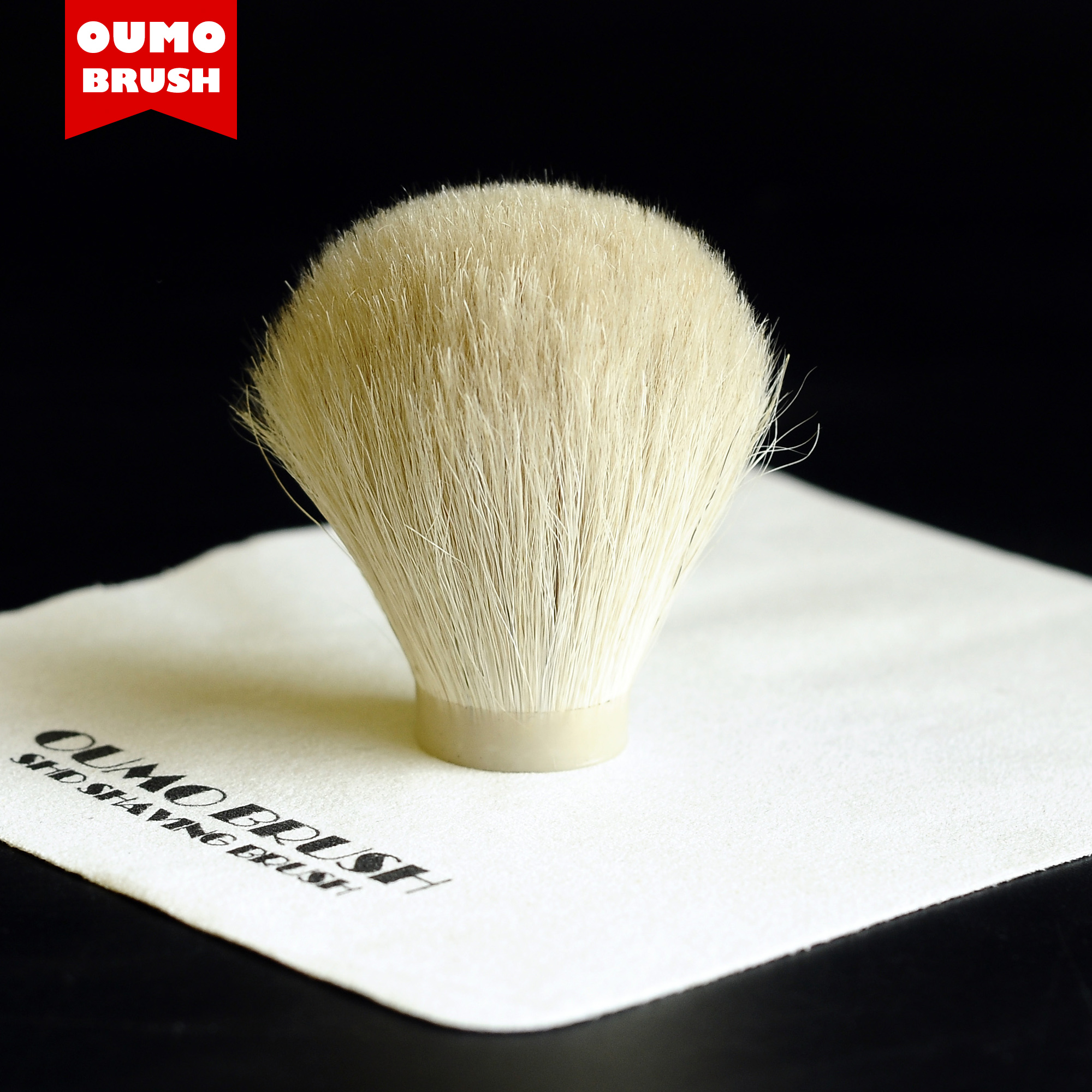 OUMO BRUSH-high Quality White Horse Hair Knot Shaving Brush Knots