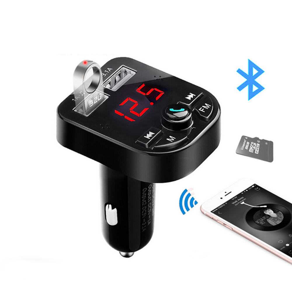 Wireless Bluetooth Car MP3 WMA Player Transmitter Radio LCD LED USB Charger Kit