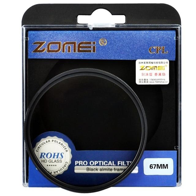 Trasporto Libero Zomei Ultra Sottile Agc Vetro Ottico Pro Cpl Polarizzazione Circolare Obiettivo Della Fotocamera Filtro Polarizzatore 52/55/58/ 62/67/72/77/82 Millimetri 5