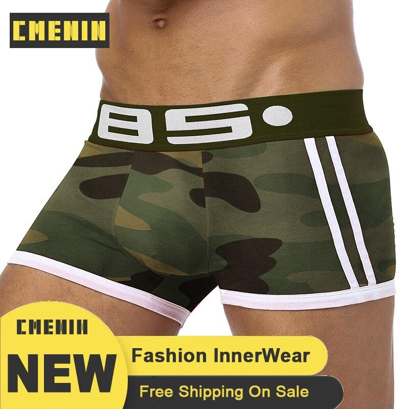 New Arrival 2020 New Underwear Men Boxers Bamboo Mens Boxershorts Underware Boxer Shorts Underware Cueca CMENIN