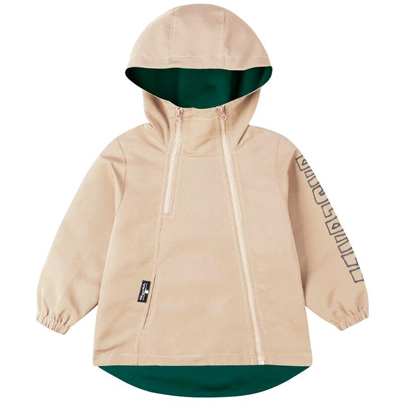 Детская куртка для мальчиков BINIDUCKLING, однотонная ветровка на молнии с капюшоном, верхняя одежда для весны|Куртки и пальто| | АлиЭкспресс