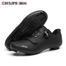 Chaussures plates de course pour hommes et femmes, souliers à crampons pour vtt, cyclisme, vélo de Route, Spd, collection hiver 2020