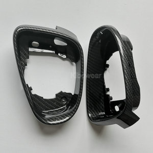 Carbon Look Side Mirror frame for VW Golf 6 MK6 GTI R20 gtd Wing Housing Replacement trim(China)