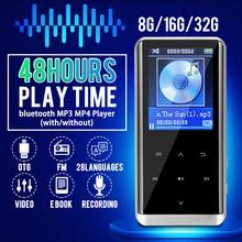 цена на 32GB bluetooth MP3 Player Earphones HiFi fm Radio mini USB Sports HiFi Portable Music Players Voice Recording Recorder