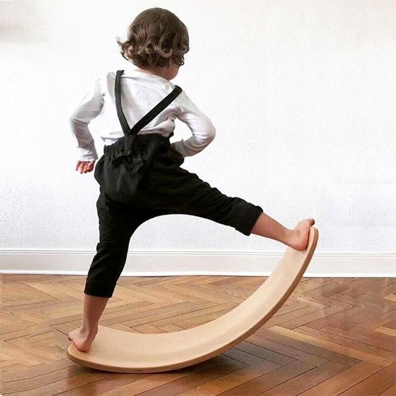 Enfant en bois Balance conseil corps oscillant équilibre entraînement torsion équipement de formation enfants Balance balançoire jouets - 2