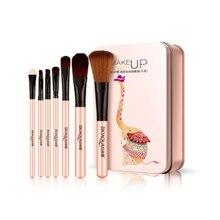 7 pink/purple makeup brushes makeup tools eye shadow brush foundation brush blush and makeup brush makeup tools
