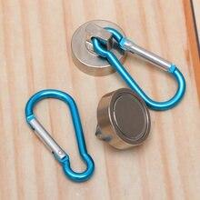 2 pièces crochets magnétiques, aimant robuste de 22kg, avec mousqueton pivotant, crochet en pression magnétique pour suspendre en intérieur ou en extérieur, cuisine, Gar