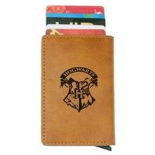 Классический кошелек с rfid логотипом hp Поттера Винтажный Мужской