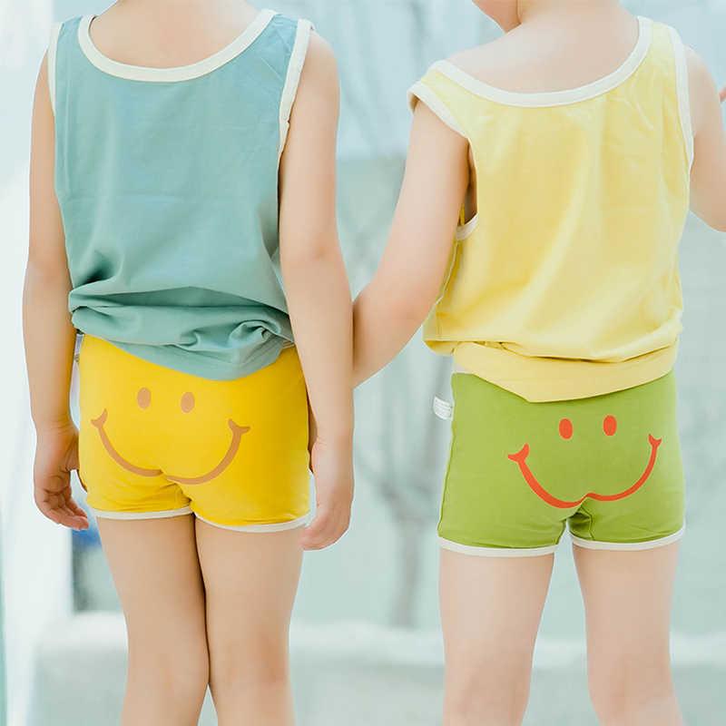 Bielizna dziecięca bawełniane majtki spodenki małe dziewczynki stringi chłopięce bokserki dziecięce krótkie figi nowe dzieci śliczne dzieci uśmiech kalesony
