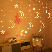 1x LED curtain ligh 220V Moon Star Light LED Light Waterproof String Ins Christmas Light Decoration for home, bedroom, terrace(China)