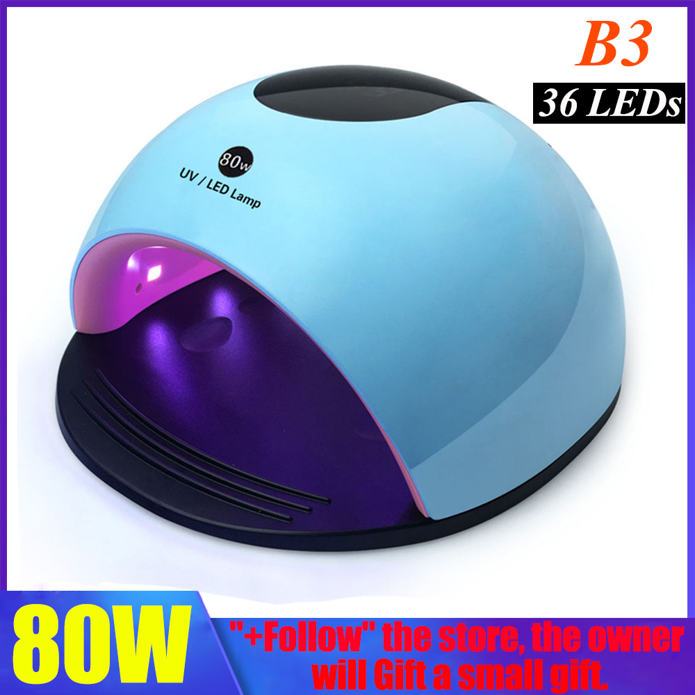 Professional <font><b>80W</b></font> <font><b>Led</b></font> <font><b>Lamp</b></font> Nail Dryer All Gel Polish Varnish Manicure Machine Nail Art Tools Drying <font><b>LED</b></font> Gel Nail <font><b>Lamp</b></font> image