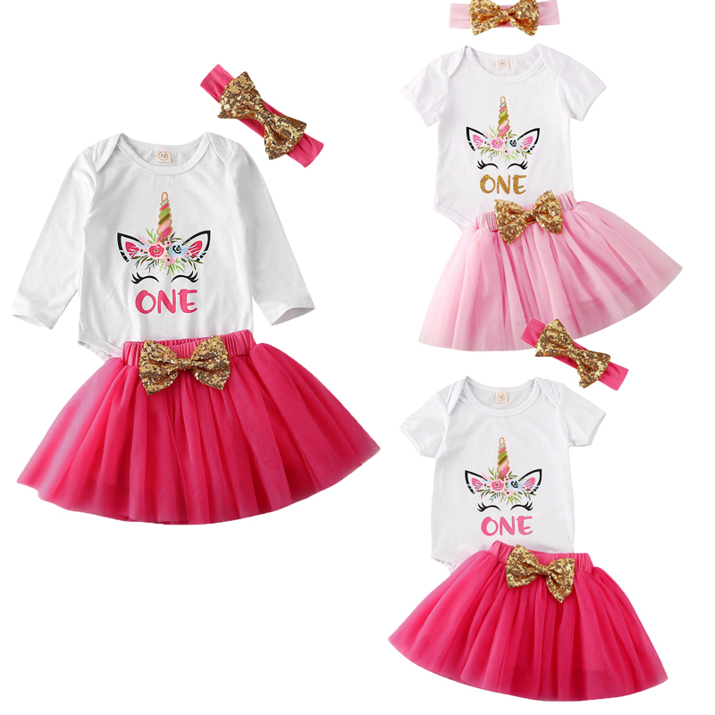 2pcs Kids Baby Girl Fox Sleeveless Party Outfit Dress Tutu Skirt Set Headband UK