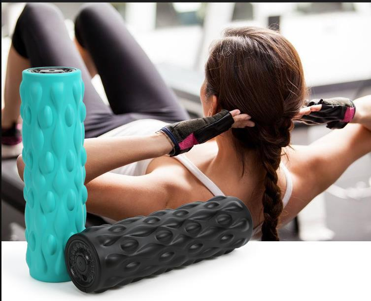 Wireless vibrator yoga roller neck and foot massage to lose weight body exercise fitness massager body slimming machine
