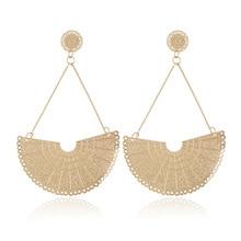 Fan shaped pendant fashion classic U-shaped new high quality earrings 4.1 lacywear u 1 fan
