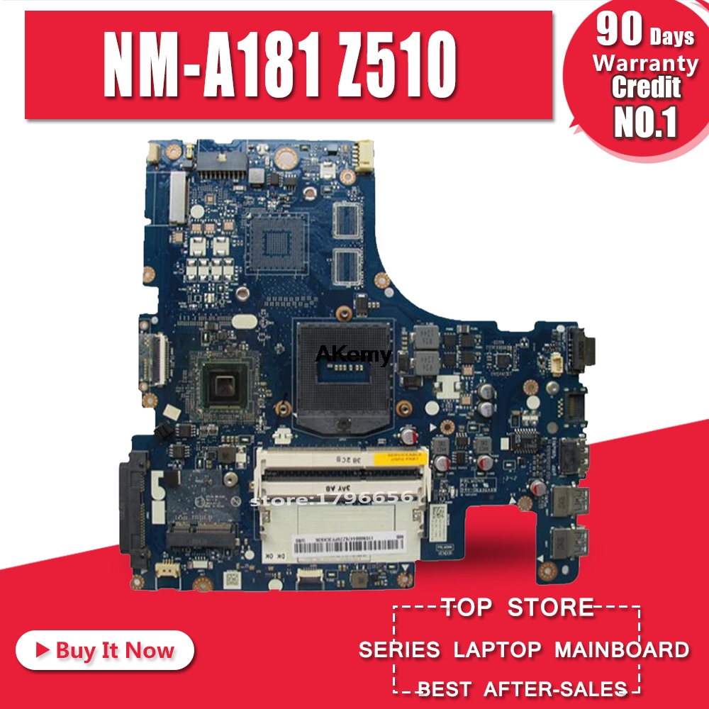 Free Shipping New New AILZA NM A181 motherboard for Lenovo Z510 laptop motherboard PGA947 ( For intel I3 I5 I7 CPU ) Test OK|Motherboards| |  - title=