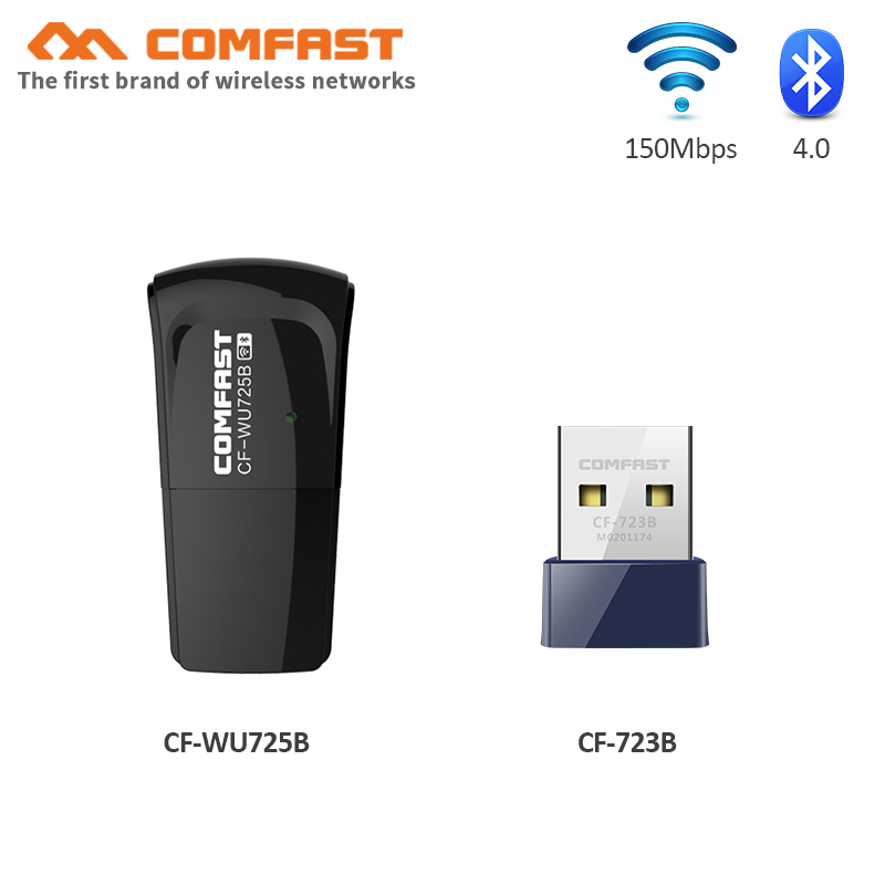 Comfast 802.11b/g/n Mini USB Wireless Wifi Adapter PC Network LAN Card 150Mbps BT4.0 USB Wifi Dongle Wifi Emitter Soft AP Router