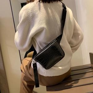 CROWDALE waist pack Women bag crocodile multicolor belt bag clutch female Pu leather fanny pack Fashion high quality chest bag