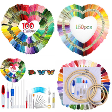 Embroidery Threads Kits Cross Stitch Floss Rainbow Color Threads Floss Sewing Threads For Women DIY Sewing Tools Random Colors death threads