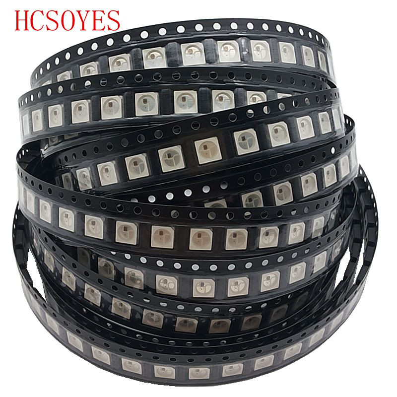 100% brand new (1000 pcs/lots) DC5V WS2812B LED Chip WS2811 IC 5050 SMD white/black RGB Light Beads-in LED Strips from Lights & Lighting    1