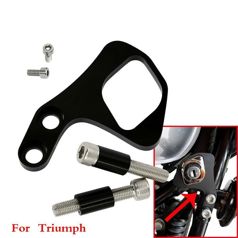 Motorcycle Ignition Key Relocation mounting Bracket mount holder For Triumph Bonneville T100 / SE / Scrambler LHS Thruxton 01-15 image