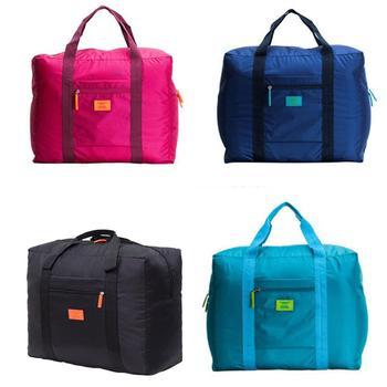 Waterproof Canvas Travel Bags Women Men Large Capacity Folding Duffle Bag Organizer Packing Cubes Luggage Girl Weekend Bag 0
