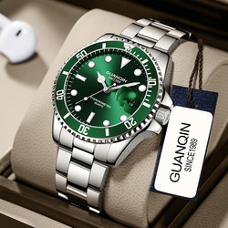 Guanqin watch male mechanical watch male automatic waterproof luminous green water meter ghost trend potential genuine