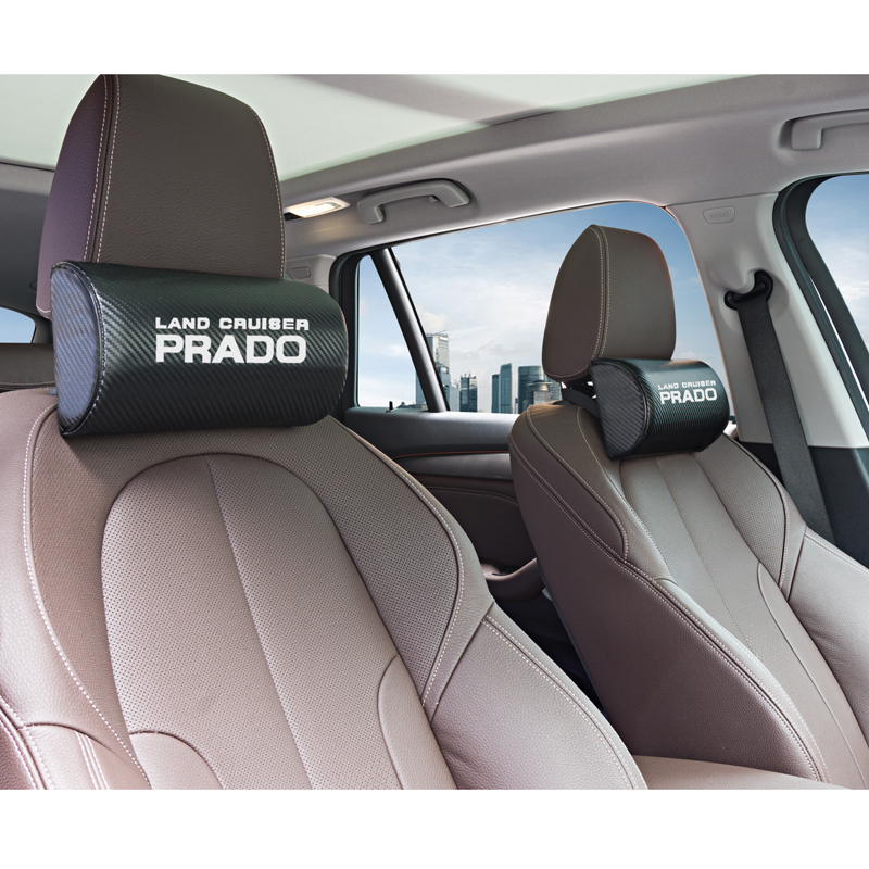 Image 4 - for Toyota corolla chr camry prado land cruiser rav4 yaris car neck pillows both side pu leather single headrest 1pcs-in Car Stickers from Automobiles & Motorcycles