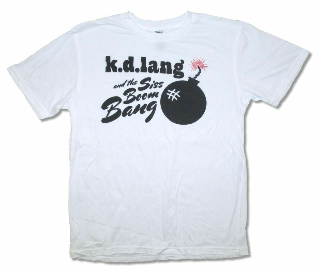 <font><b>Kd</b></font> Lang Siss Boom Bang Bomb On White T <font><b>Shirt</b></font> New Official image