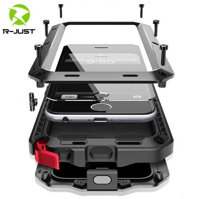 무거운 의무 보호 갑옷 금속 알루미늄 전화 케이스 아이폰 11 12 미니 프로 XS 최대 SE 2 XR X 6 6S 7 8 플러스 충격 방지 커버