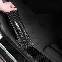 5D naklejki samochodowe z włókna węglowego winylu 3D naklejki wodoodporna folia samochodów drzwi ochraniacz zderzaka akcesoria do dekoracji wnętrz