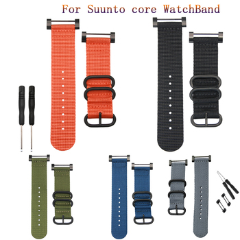 hot sale fashion For Suunto Core Nylon Strap Band With Lugs Adapters Tools 24mm Watch bands nylon smart bracelet for men watches for suunto core nylon diver watch strap band kit w lugs 5 ring pdv clasp 20 22 24mm zulu for nato g10 tools