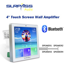 Wall-Amplifier Radio Touch-Screen Power Bluetooth 4-Speakers 4-Channel Smart Home Wireless