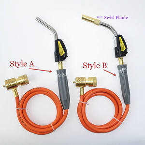 Image 2 - Braze Welding Torch Self Ignition 1.5m hose CGA600 connection Gas Torch Hand Propane MAPP Torch