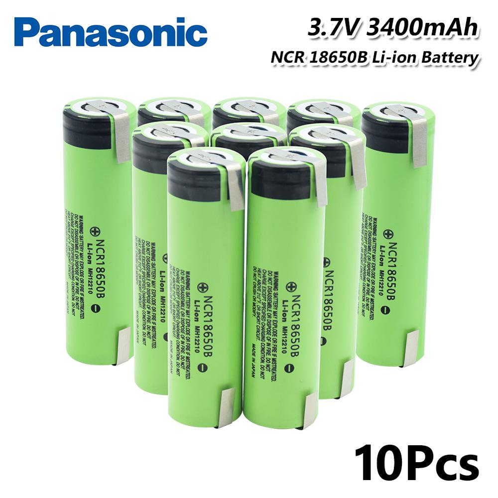 Original 3.7V Rechargeable Battery Flashlight batteries 3400mAh <font><b>NCR18650B</b></font> Battery With 2 Tabs High Drain 20A For Torch Vape New image