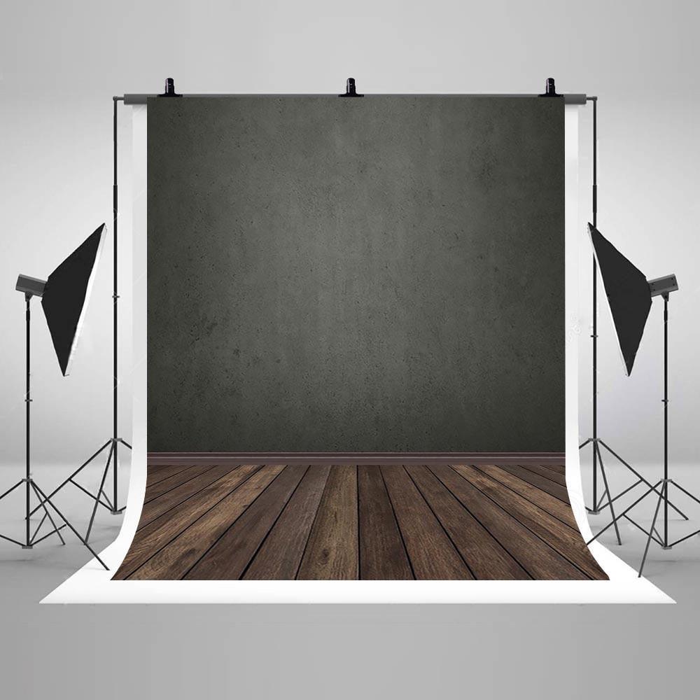 Fondo de pared gris abstracto pared gris oscuro fondo de suelo de madera marrón retrato niño Retro fotografía sesión de fotos Estudio de fotos Fondo AliExpress