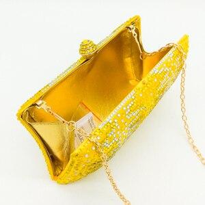 Image 4 - Boutique De Fgg Elegante Gele Kristallen Dames Clutch Bag Vrouwen Avond Party Wedding Portemonnees En Handtassen Bruids Diamanten Tas