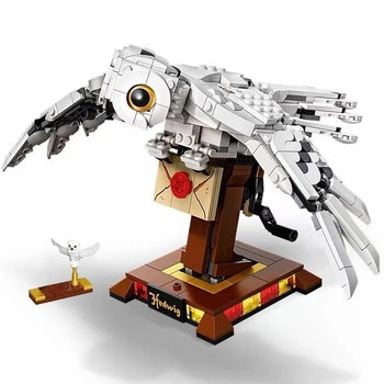 NEW Potter Movie Hedwig's Strigiformes Messenger Owl Wings Model Building Blocks Kit Classic Bricks Kids Toy For Children Gift image