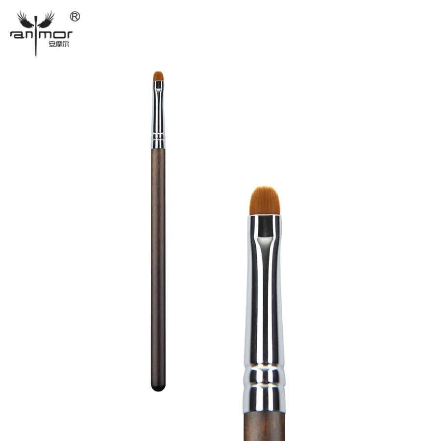 Anmor pincéis de maquiagem cabelo sintético pequeno delineador compõem escova de alta qualidade sobrancelha sombra de olho profissional kit cosméticos ferramentas