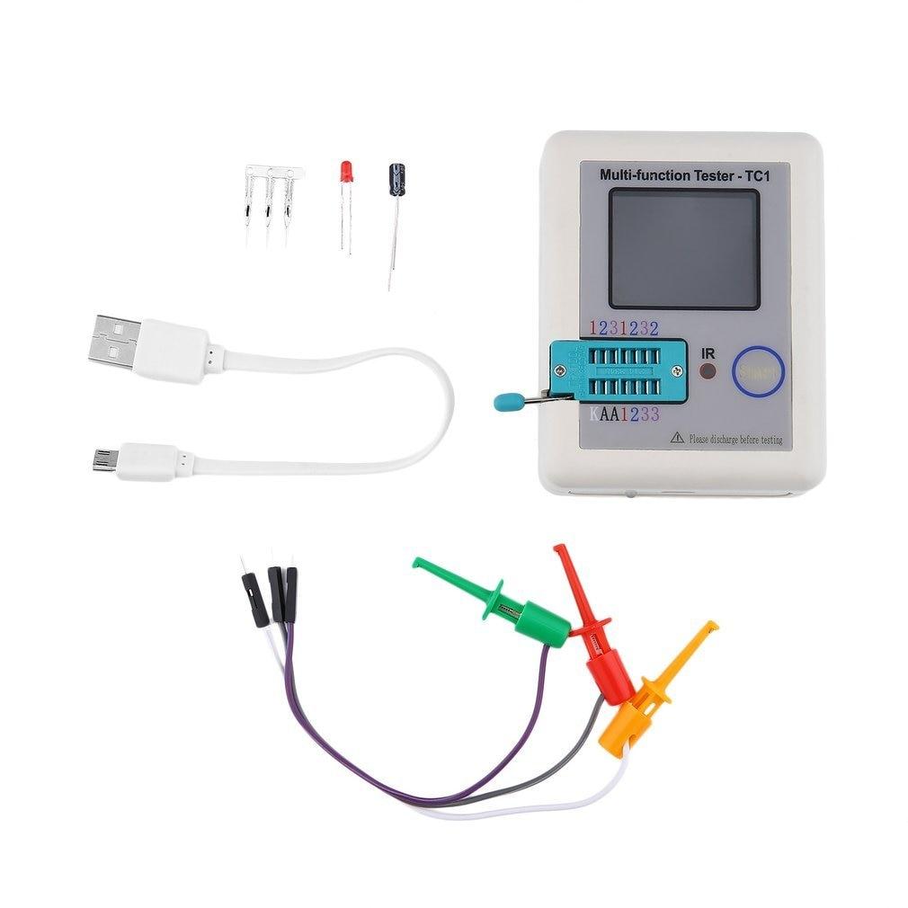 LCR-TC1 pantalla TFT de 3,5 pulgadas pantalla colorida Multi-funcional TFT luz de fondo Transistor probador diodo triodo resistencia de capacitancia